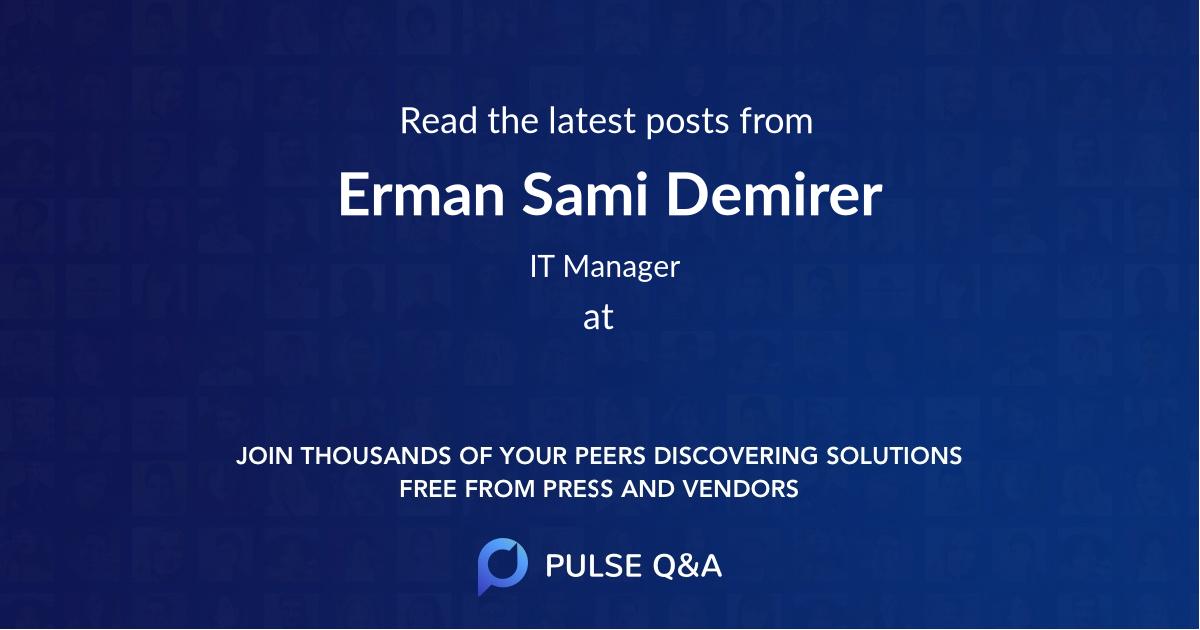 Erman Sami Demirer