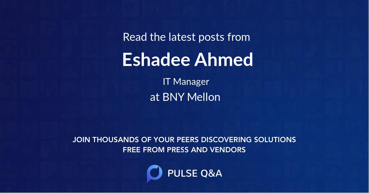 Eshadee Ahmed