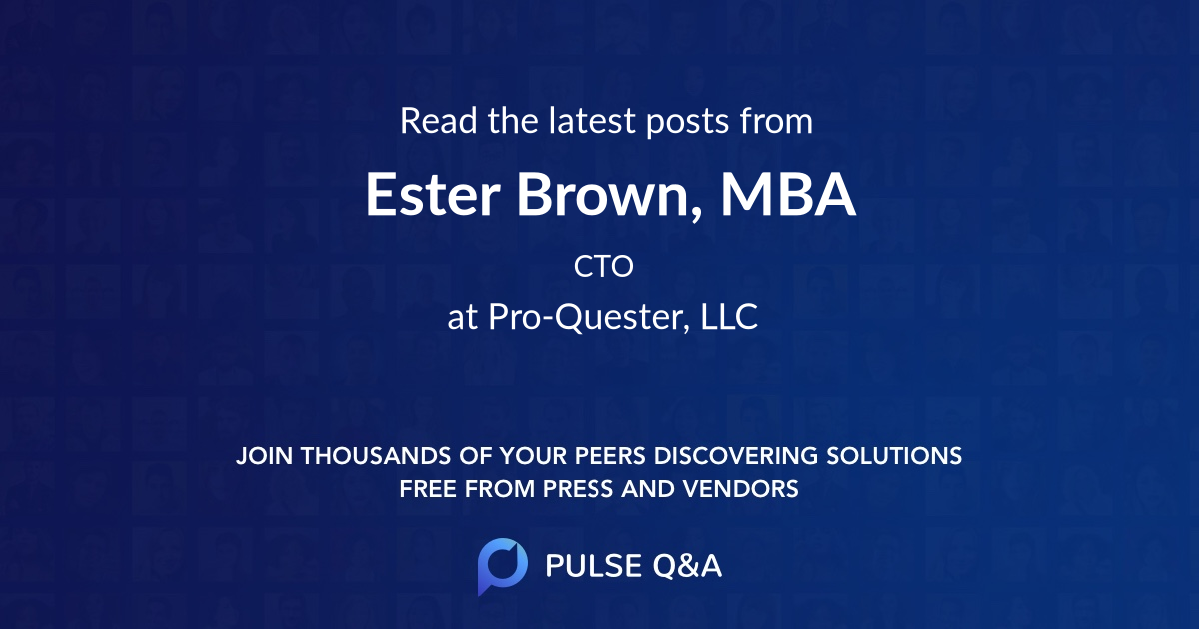 Ester Brown, MBA