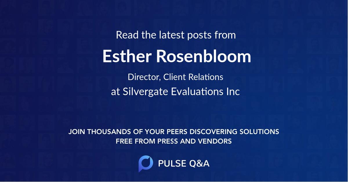 Esther Rosenbloom
