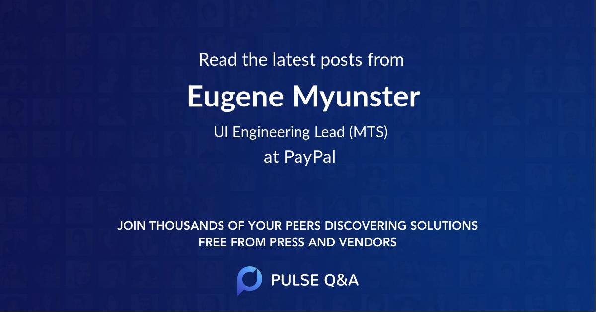 Eugene Myunster