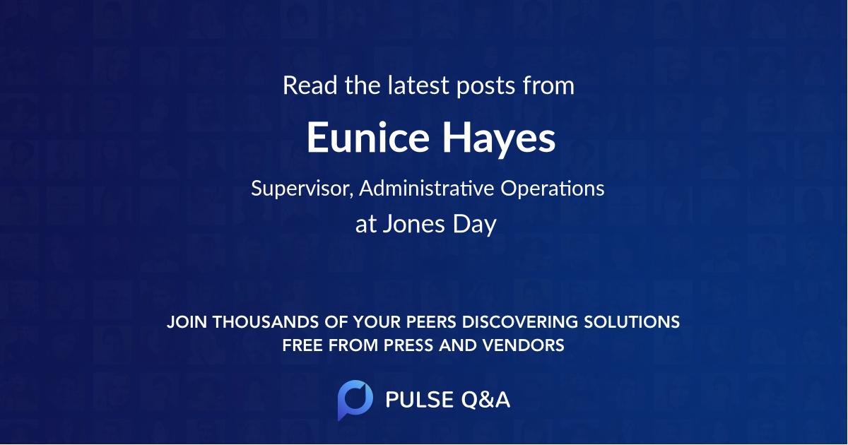 Eunice Hayes