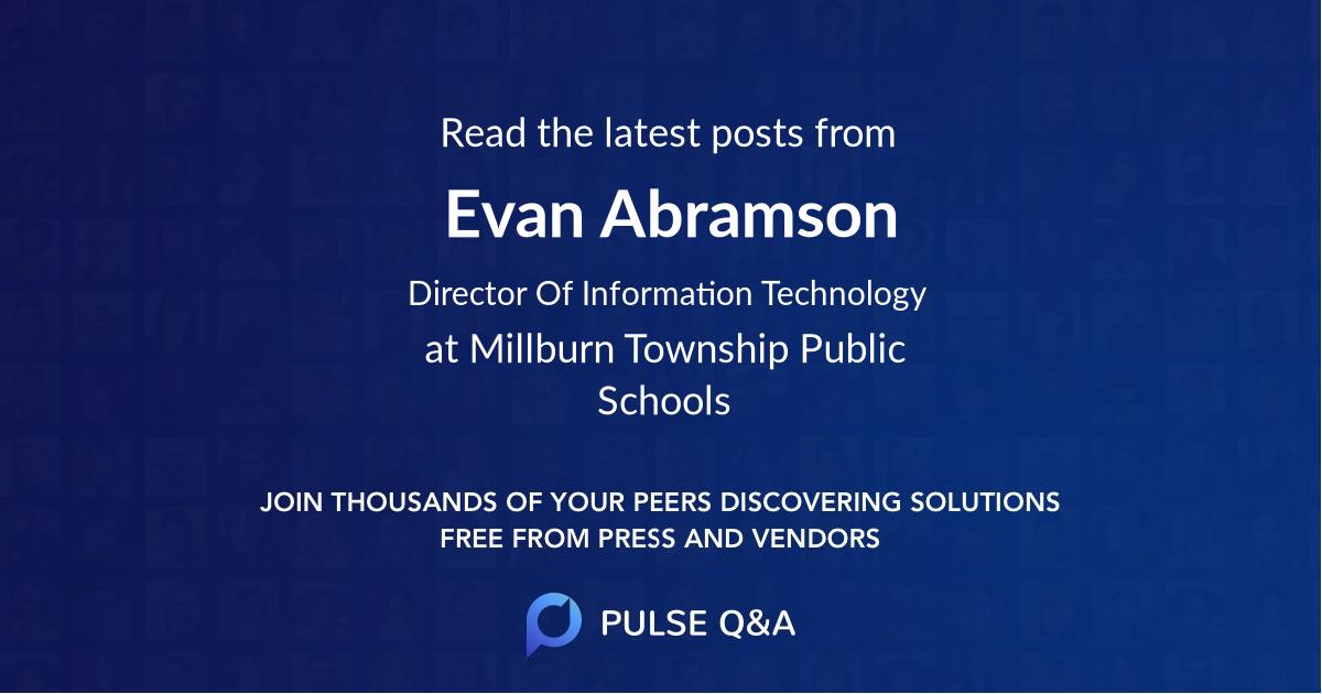 Evan Abramson