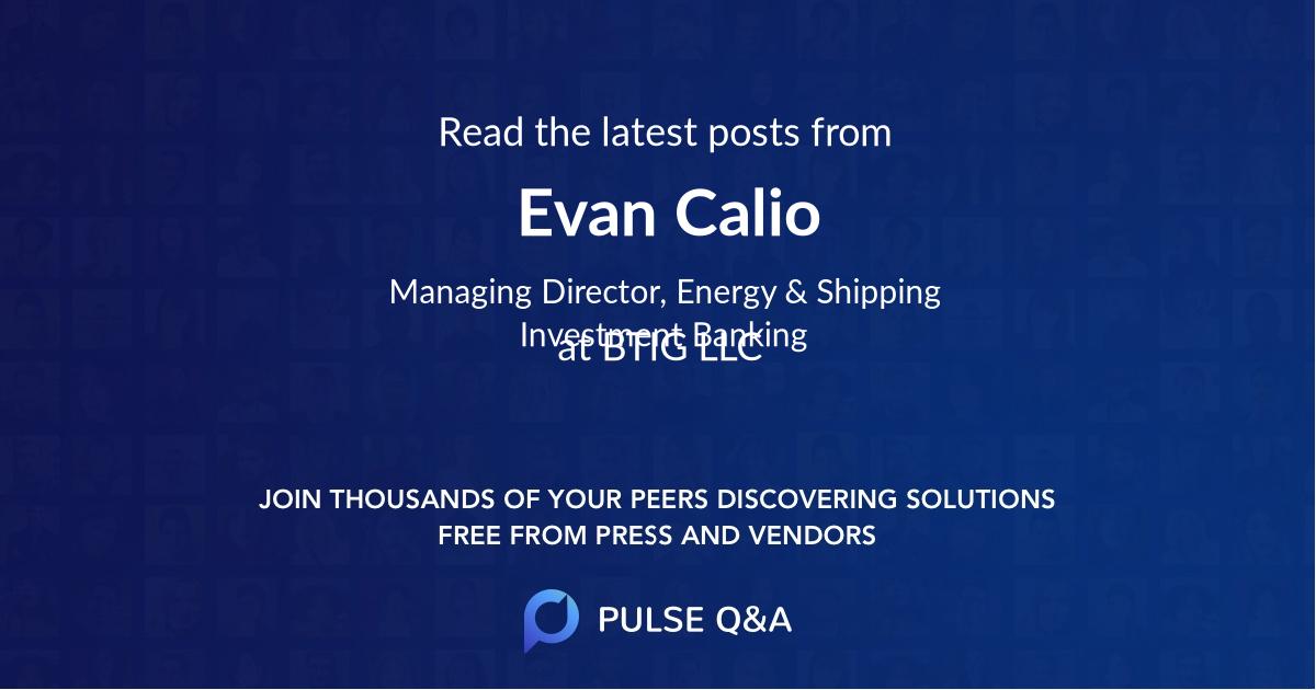 Evan Calio