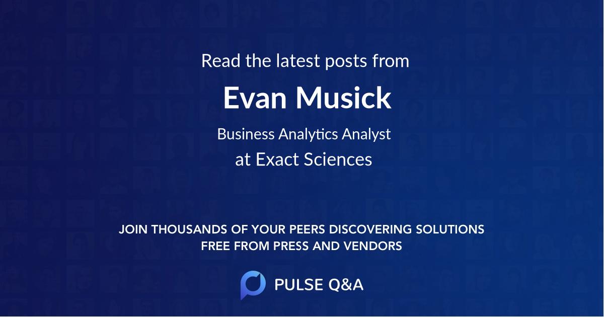 Evan Musick