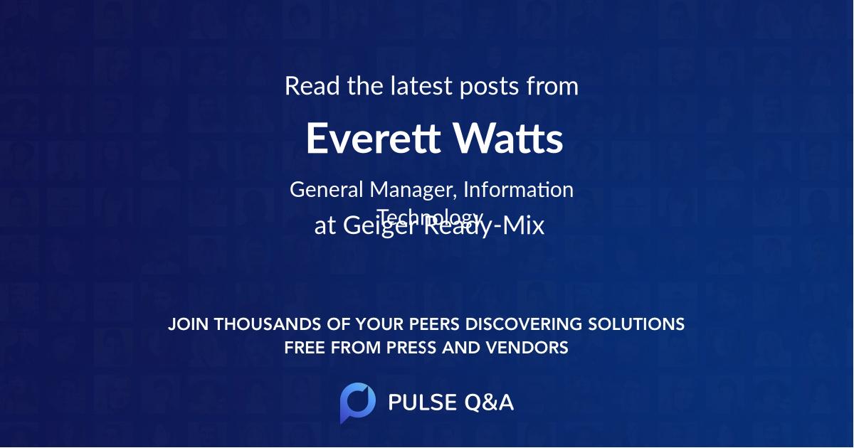 Everett Watts