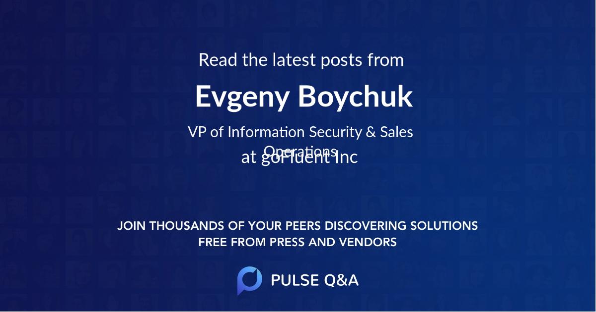 Evgeny Boychuk