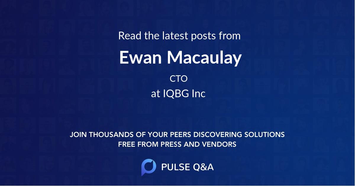 Ewan Macaulay