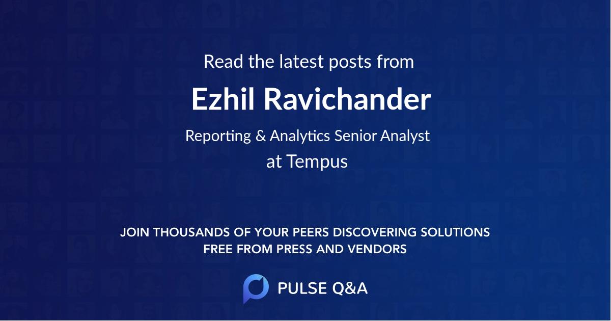 Ezhil Ravichander