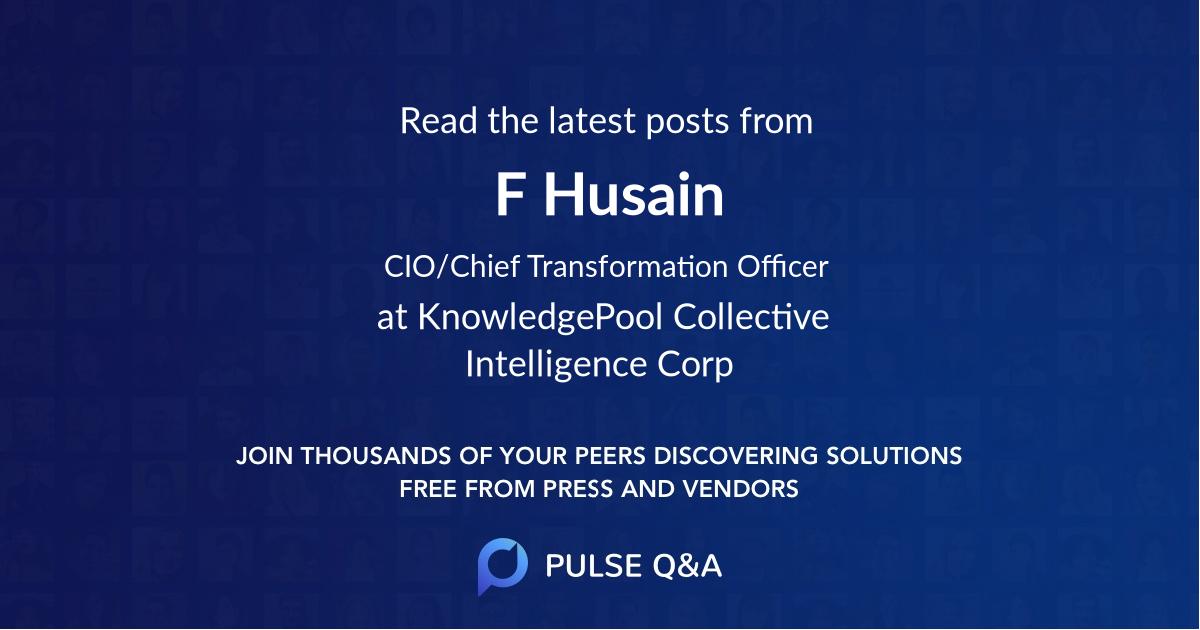 F Husain