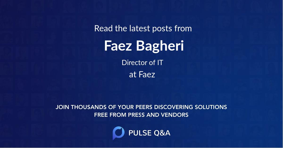 Faez Bagheri