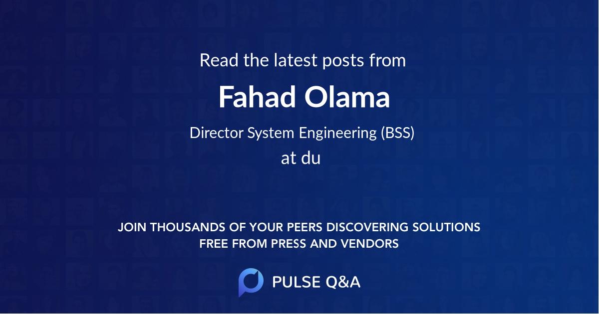 Fahad Olama