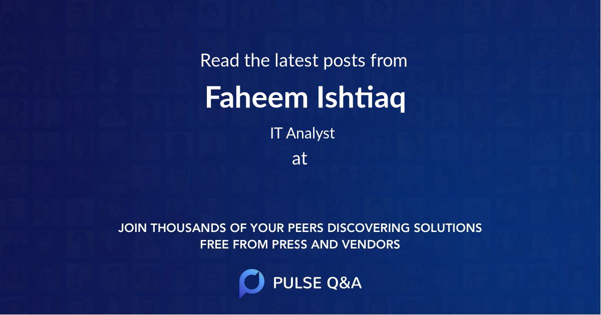 Faheem Ishtiaq