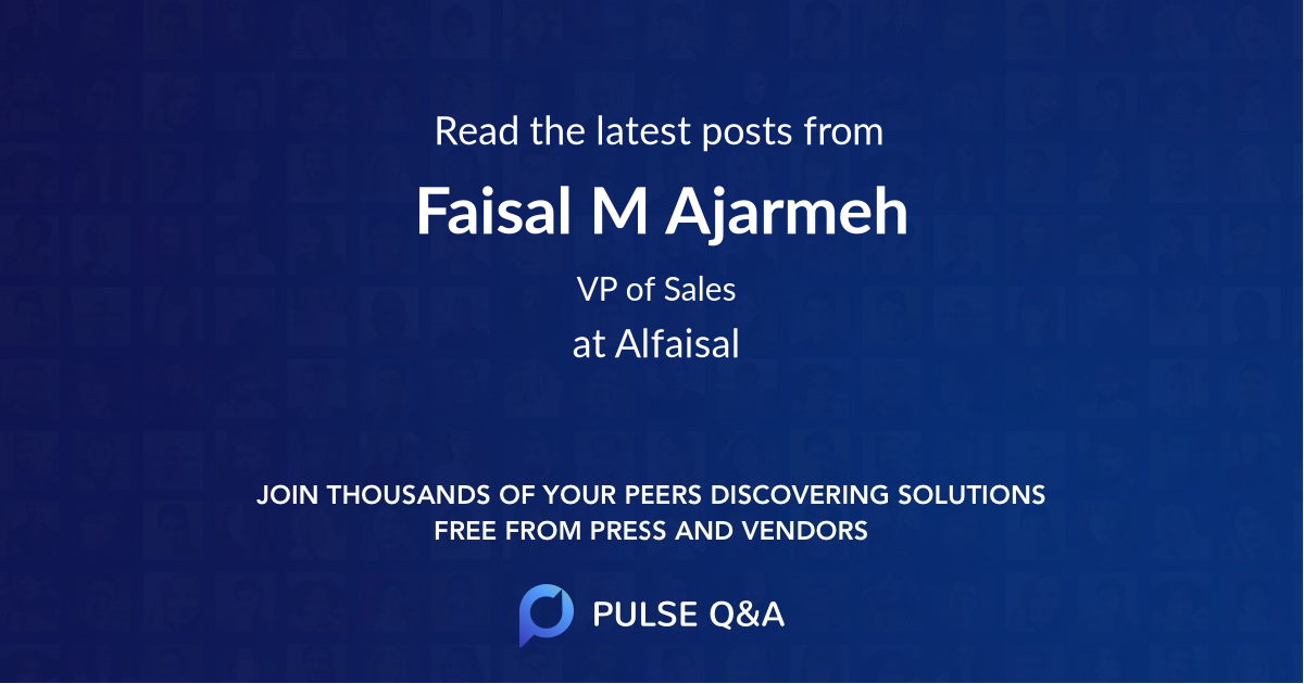 Faisal M Ajarmeh