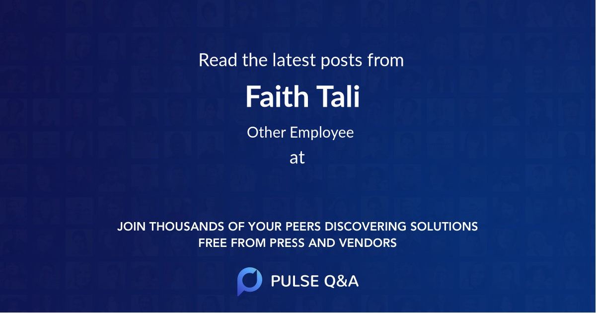 Faith Tali