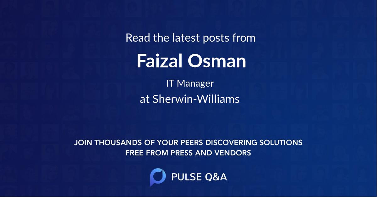 Faizal Osman