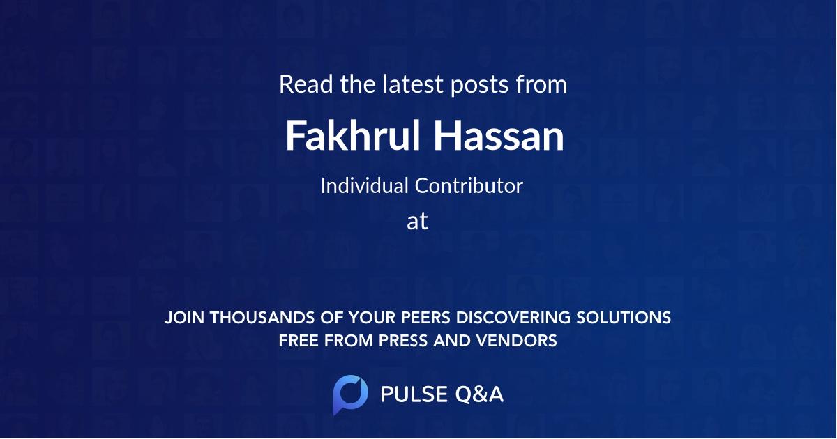 Fakhrul Hassan
