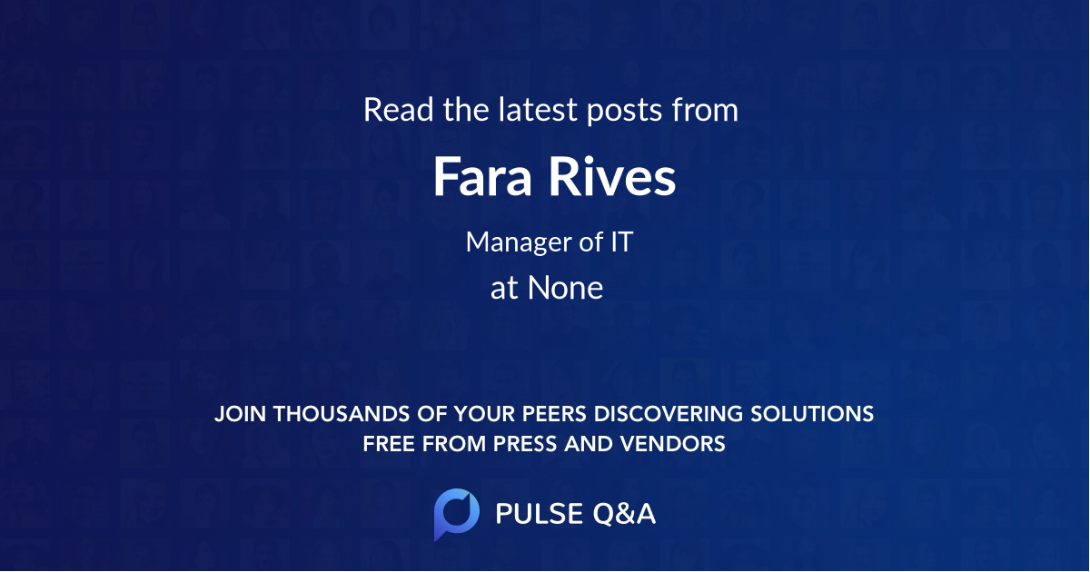 Fara Rives