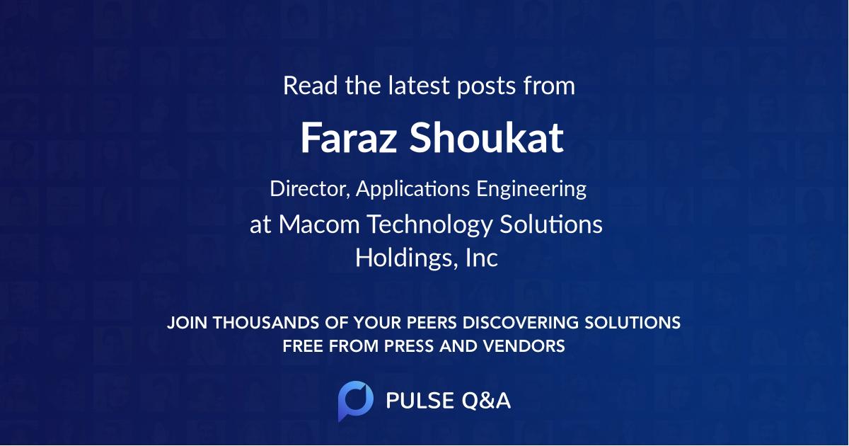 Faraz Shoukat