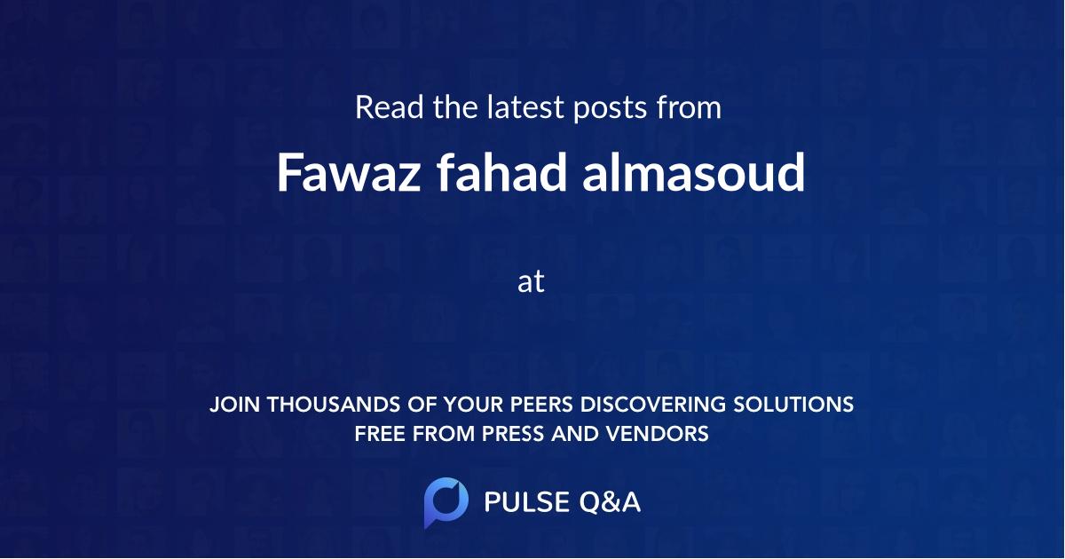 Fawaz fahad almasoud