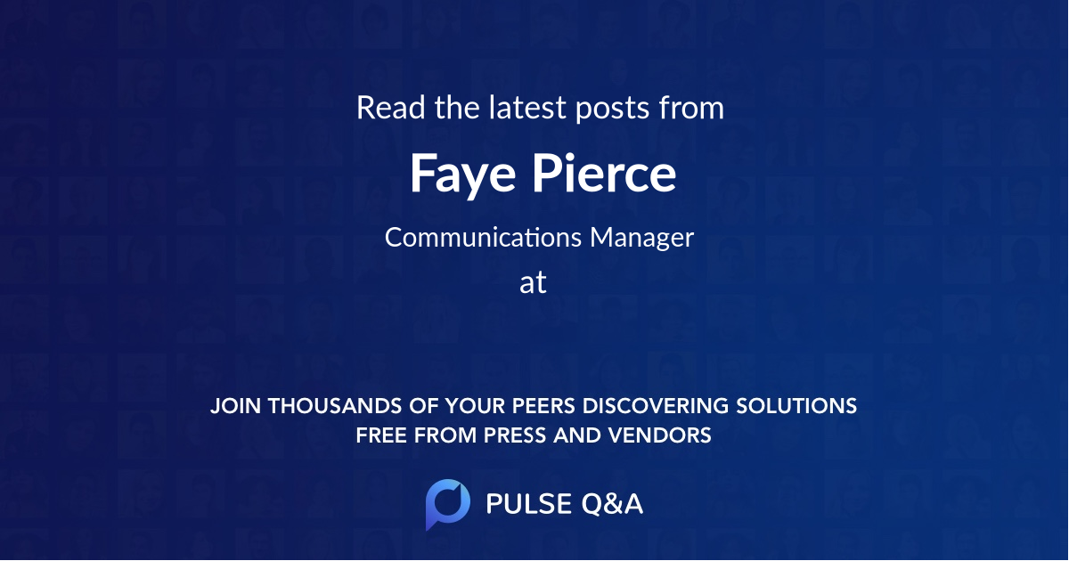 Faye Pierce