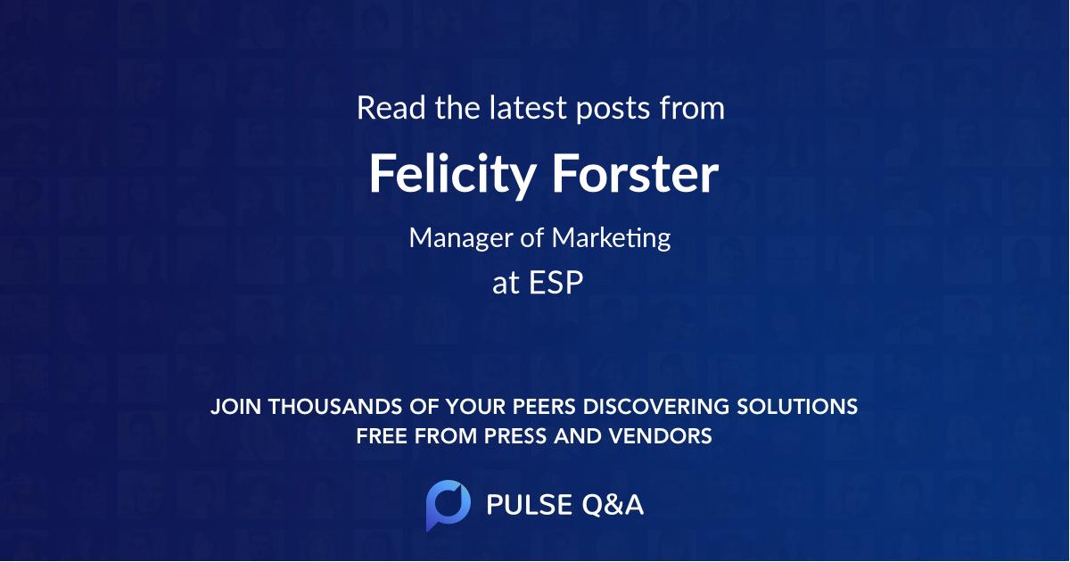 Felicity Forster