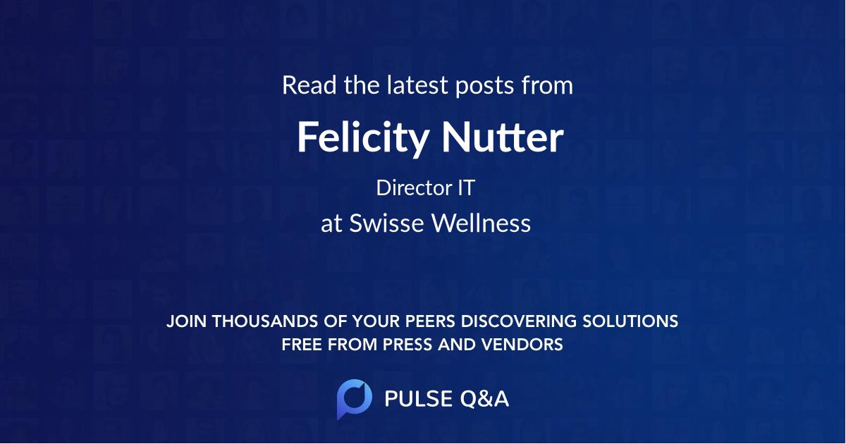 Felicity Nutter
