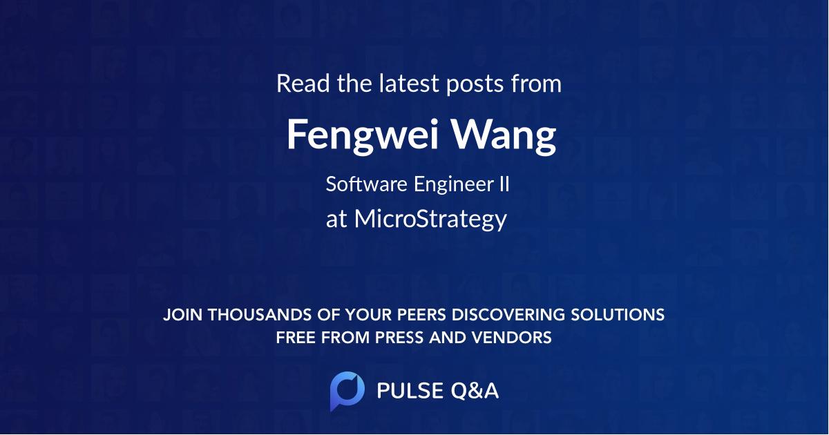 Fengwei Wang
