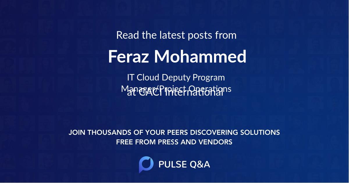 Feraz Mohammed