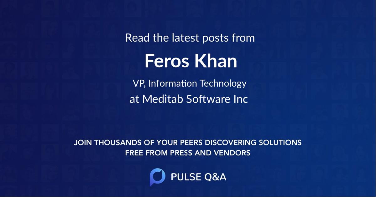 Feros Khan