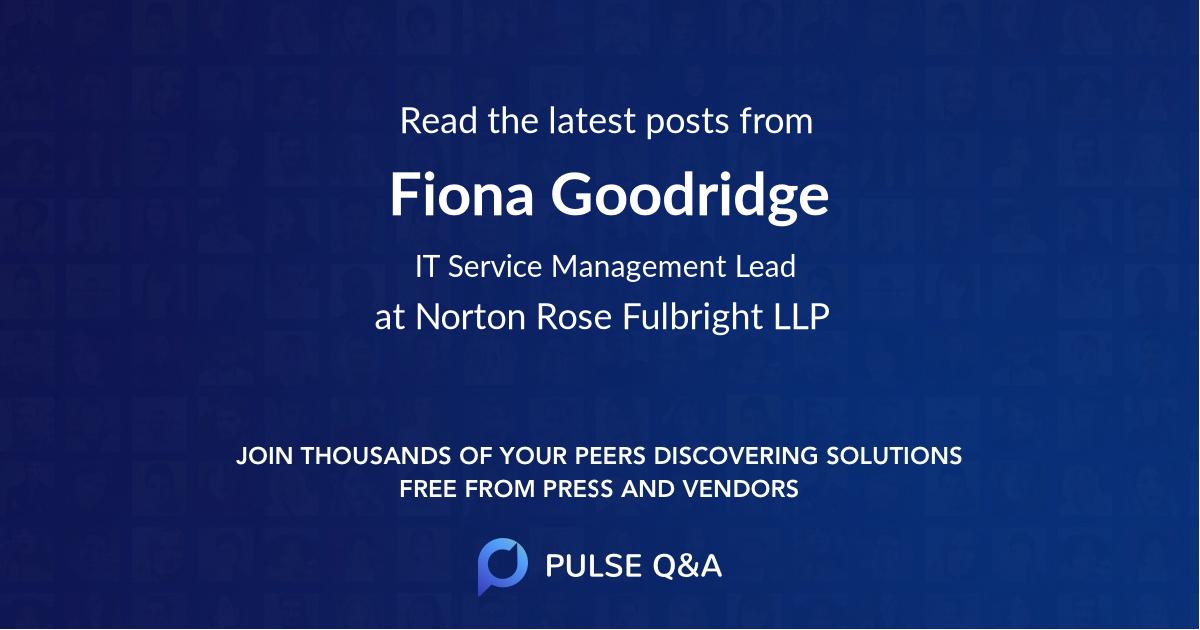 Fiona Goodridge