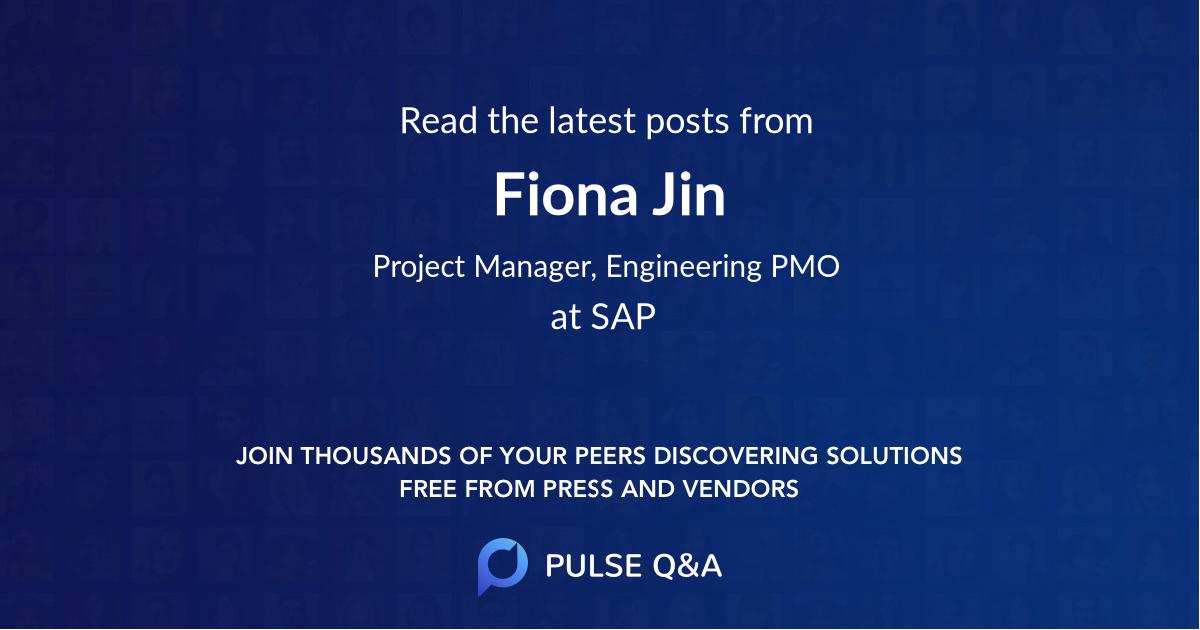 Fiona Jin