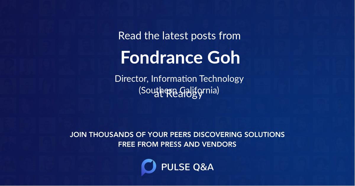 Fondrance Goh