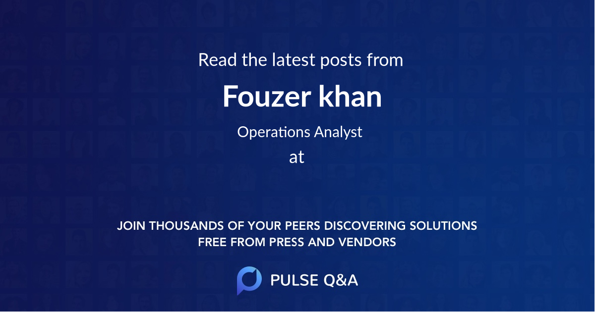 Fouzer khan