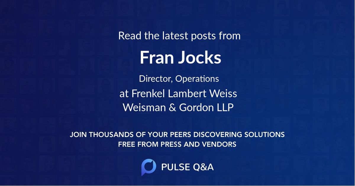 Fran Jocks