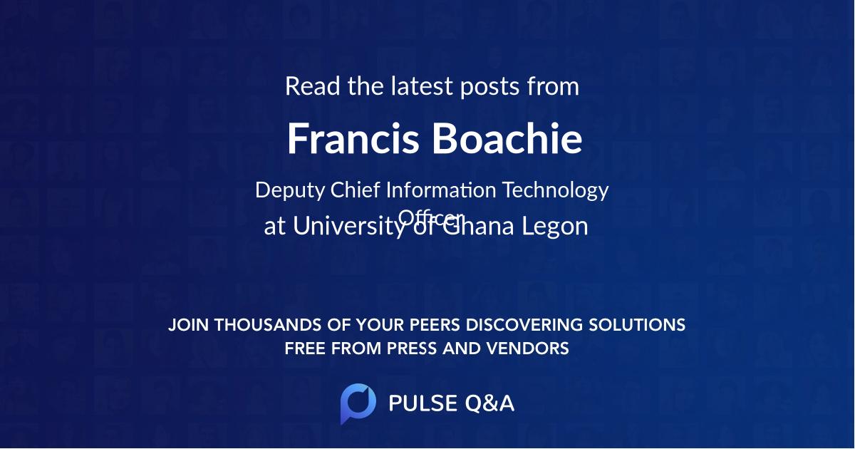 Francis Boachie