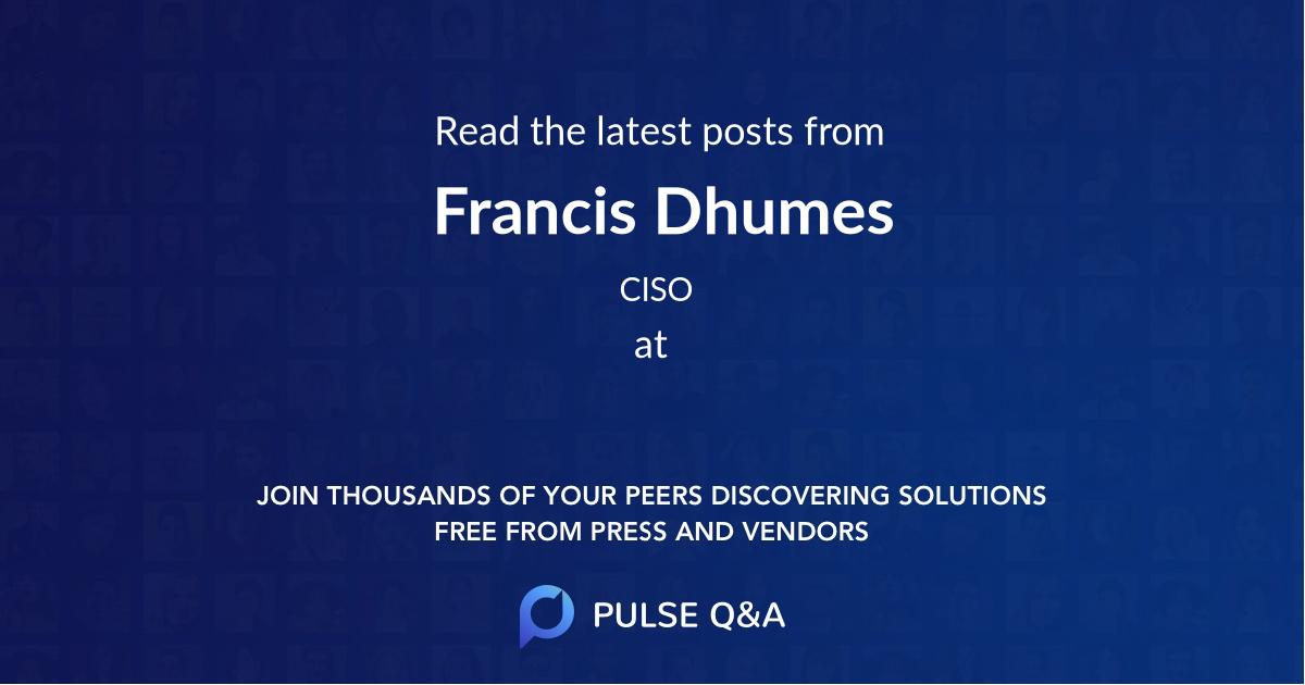 Francis Dhumes