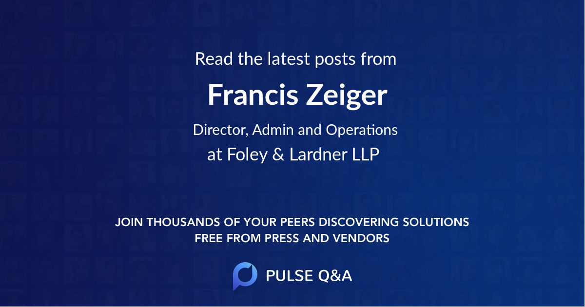 Francis Zeiger
