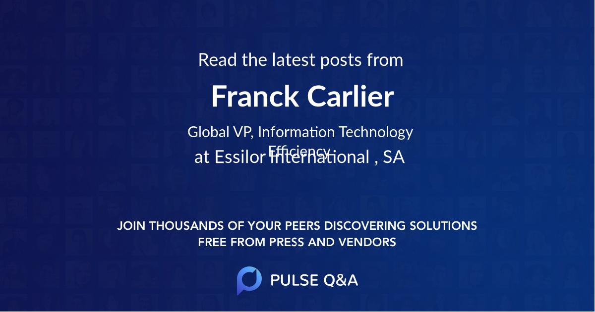 Franck Carlier