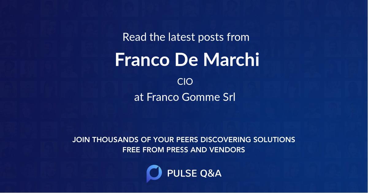 Franco De Marchi