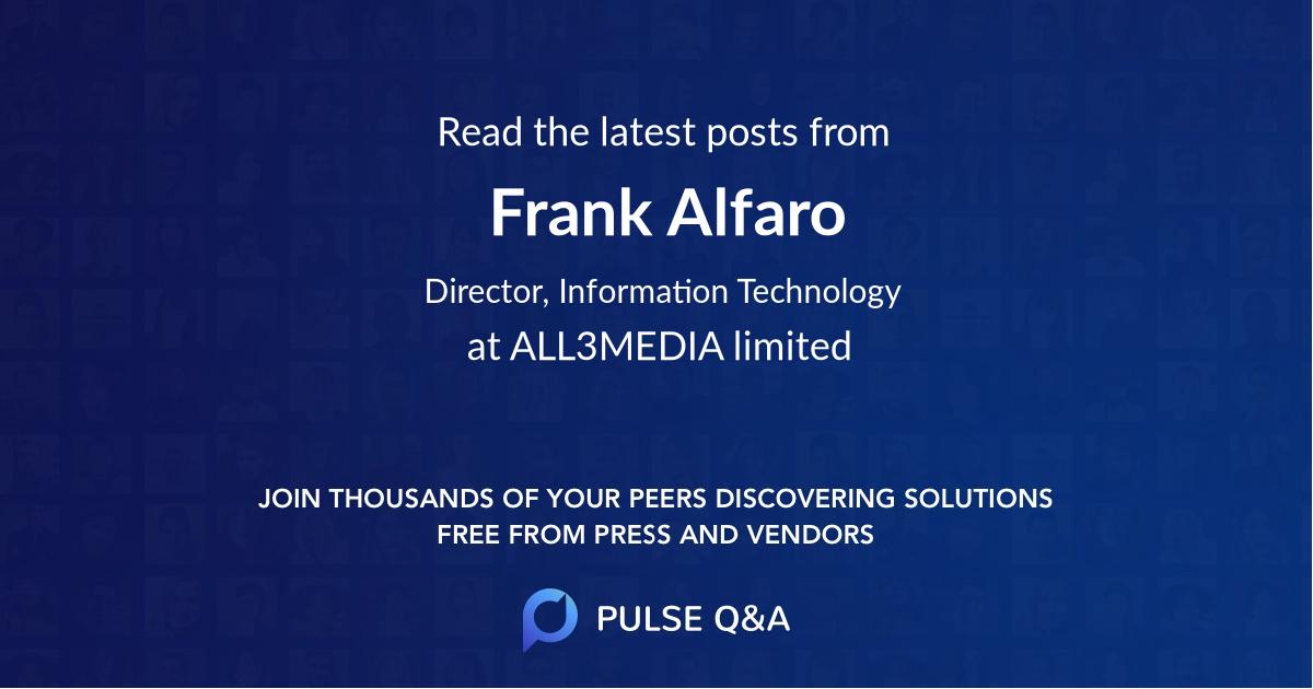 Frank Alfaro