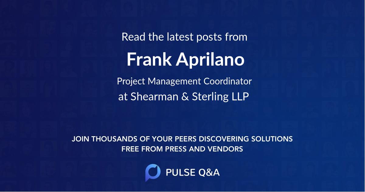 Frank Aprilano