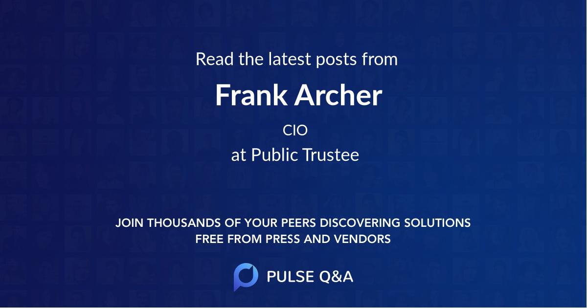 Frank Archer