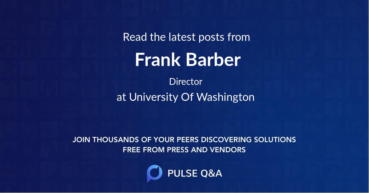 Frank Barber