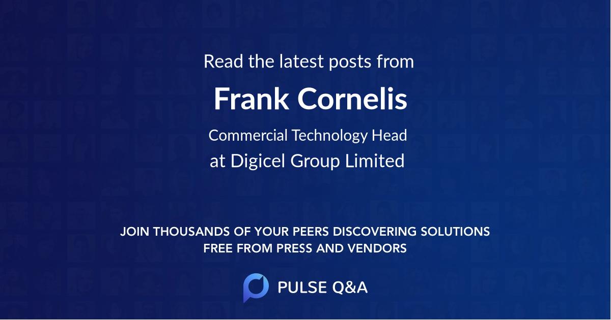 Frank Cornelis