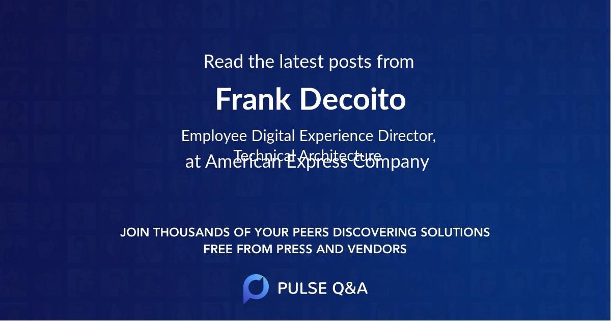 Frank Decoito