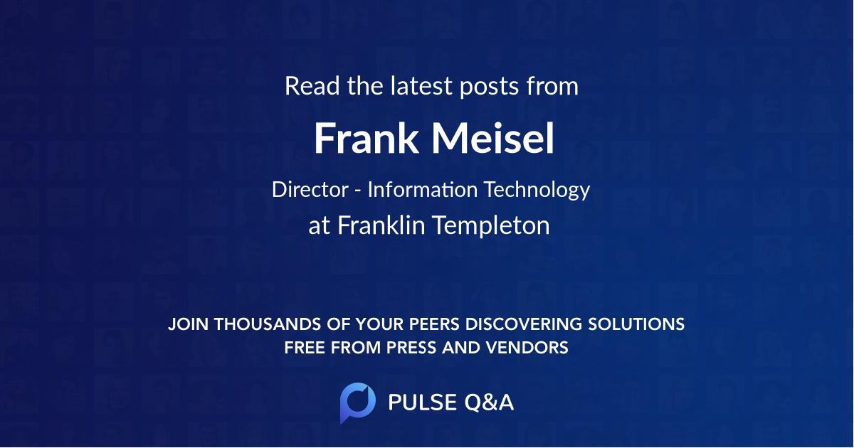 Frank Meisel
