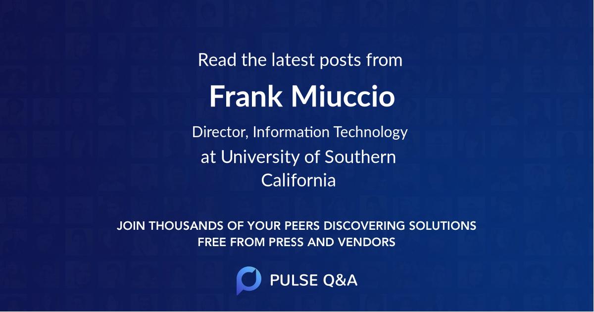 Frank Miuccio