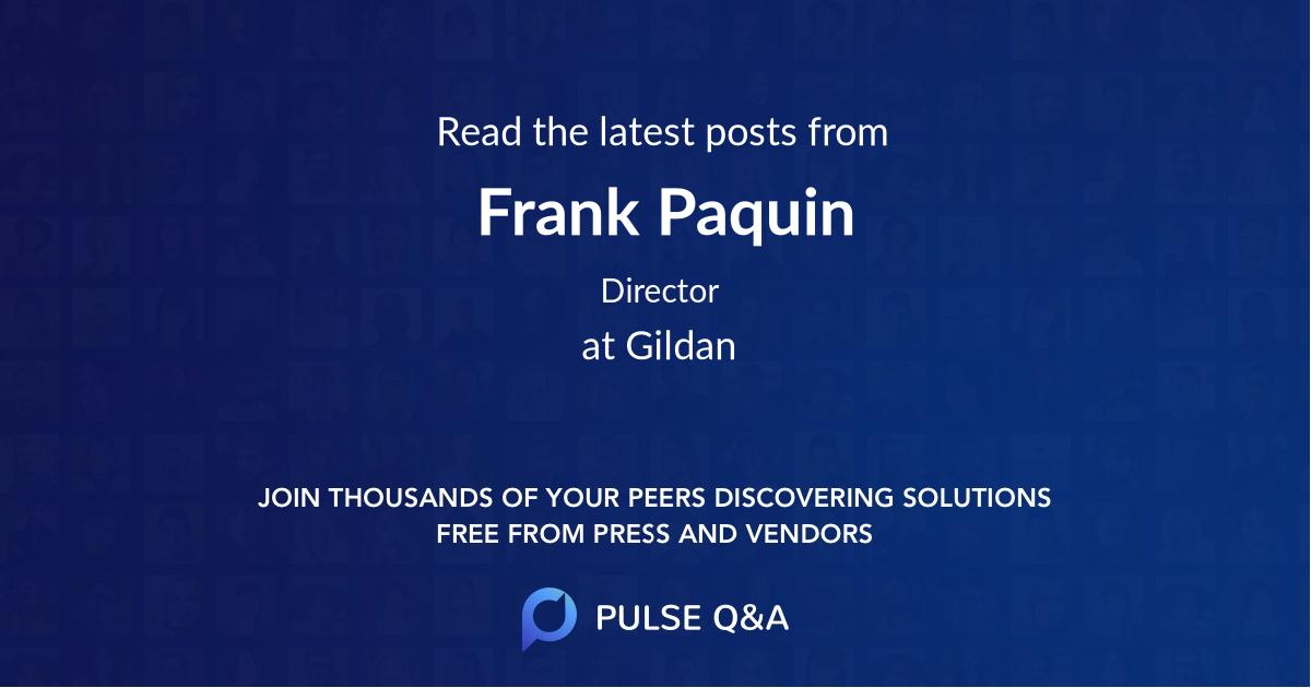 Frank Paquin