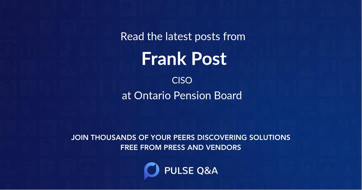 Frank Post